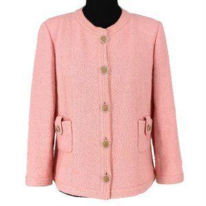 CHANEL 16C PARIS-SEOUL Pink Tweed Jacket Pearl 42
